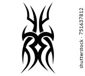 tattoo tribal vector designs.... | Shutterstock .eps vector #751637812