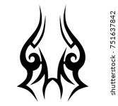tattoo tribal vector design.... | Shutterstock .eps vector #751637842