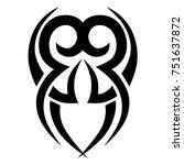 tattoo tribal vector design.... | Shutterstock .eps vector #751637872