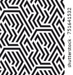 vector seamless pattern.... | Shutterstock .eps vector #751641532