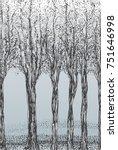 stylized depiction of birch... | Shutterstock .eps vector #751646998