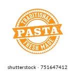 circular pasta stamp | Shutterstock .eps vector #751647412