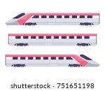 passenger express train. subway ... | Shutterstock .eps vector #751651198