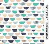 vector seamless pattern  simple ... | Shutterstock .eps vector #751653658
