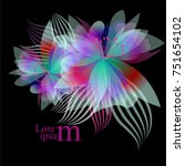 colored abstract flower. vector | Shutterstock .eps vector #751654102