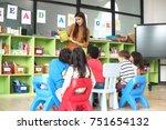 teacher attend in teaching... | Shutterstock . vector #751654132