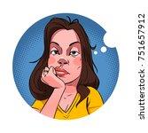 bored woman vector illustration | Shutterstock .eps vector #751657912