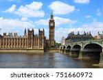 palace of westminster in london ... | Shutterstock . vector #751660972