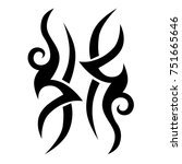 tattoo tribal vector designs.... | Shutterstock .eps vector #751665646