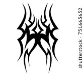 tattoo tribal vector design.... | Shutterstock .eps vector #751665652