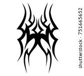 tattoos ideas designs   tribal... | Shutterstock .eps vector #751665652