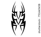 tattoo tribal vector design....   Shutterstock .eps vector #751665658
