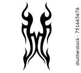 tattoo designs. tattoo tribal... | Shutterstock .eps vector #751665676