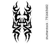 tattoo designs. tattoo tribal... | Shutterstock .eps vector #751665682