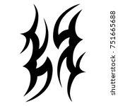 tribal pattern tattoo vector... | Shutterstock .eps vector #751665688