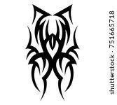 tattoos ideas designs   tribal... | Shutterstock .eps vector #751665718
