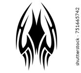 tattoo tribal vector design.... | Shutterstock .eps vector #751665742
