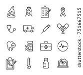 modern outline style healthcare ... | Shutterstock .eps vector #751667515