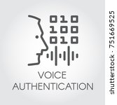 voice authentication outline... | Shutterstock .eps vector #751669525