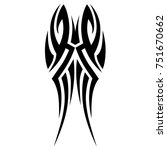 tattoo tribal vector design.... | Shutterstock .eps vector #751670662