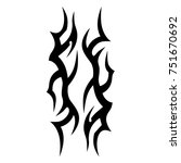 tattoo tribal vector design.... | Shutterstock .eps vector #751670692