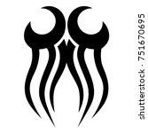 tribal pattern tattoo vector... | Shutterstock .eps vector #751670695