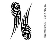 tattoo tribal vector design.... | Shutterstock .eps vector #751670716