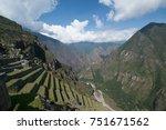 machu picchu citadel in peru | Shutterstock . vector #751671562