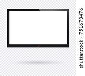 realistic tv screen. modern... | Shutterstock .eps vector #751673476