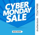 cyber monday sale  poster... | Shutterstock .eps vector #751674988