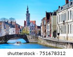 panorama with canal and... | Shutterstock . vector #751678312