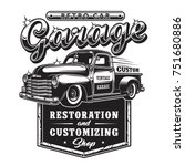 Retro Car Repair Garage Sign...