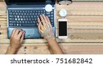 a working people  working even... | Shutterstock . vector #751682842