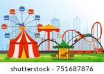 vector illustration amusement... | Shutterstock .eps vector #751687876
