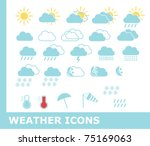 weather icons | Shutterstock .eps vector #75169063