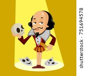 shakespeare vector illustration ... | Shutterstock .eps vector #751694578