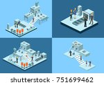 isometric 3d illustration... | Shutterstock . vector #751699462