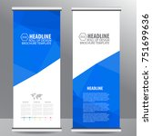 blue roll up business brochure... | Shutterstock .eps vector #751699636