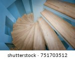 top view of spiral wooden