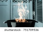outdoor charcoal barbecue grill.... | Shutterstock . vector #751709536