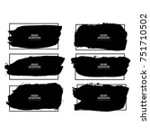 modern black watercolor stroke... | Shutterstock .eps vector #751710502
