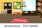 Stock vector pet store interior background vector illustration 751718605