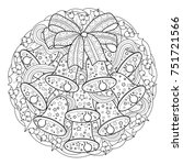 christmas coloring page | Shutterstock .eps vector #751721566