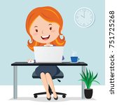 woman in the office | Shutterstock .eps vector #751725268