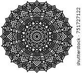 geometric mandala. coloring... | Shutterstock .eps vector #751727122