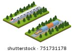 isometric 3d illustration high... | Shutterstock . vector #751731178