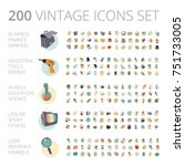 vintage icons set for business  ...