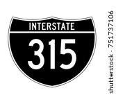 interstate highway 315 road... | Shutterstock .eps vector #751737106