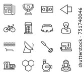 thin line icon set   newspaper  ... | Shutterstock .eps vector #751740046