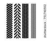tire track brush seamless... | Shutterstock .eps vector #751740502